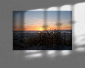 Zonsondergang bij Texel van Maurice De Vries