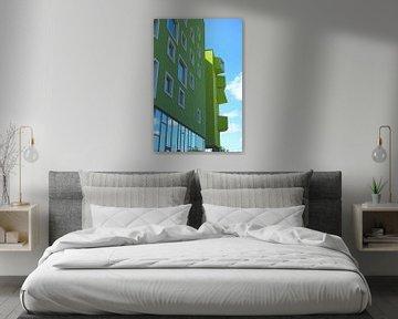 Zijaanzicht van flatgebouw in Ørsted, Kopenhagen, Denemarken van Folkert Jan Wijnstra