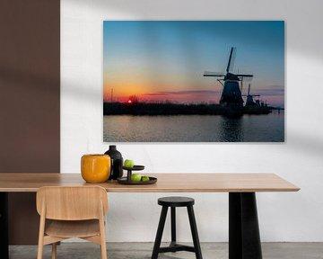 Sonnenaufgang Kinderdijk von Inge van der Stoep