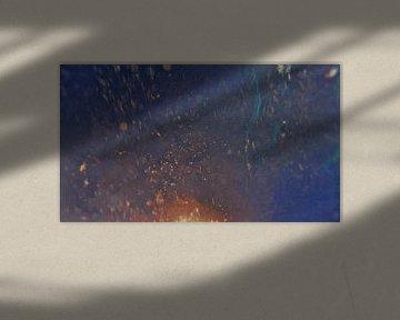Abstrakte Kunst - Wasser und Feuer - Malerei von Schildersatelier van der Ven