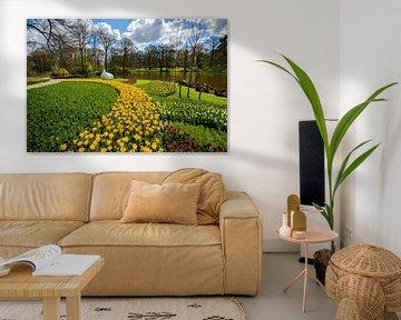 Bild von blühenden Tulpen im Frühling von Chihong