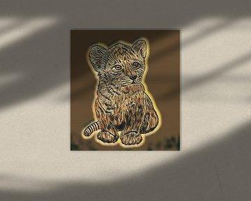 Junger Löwe von Jose Lok