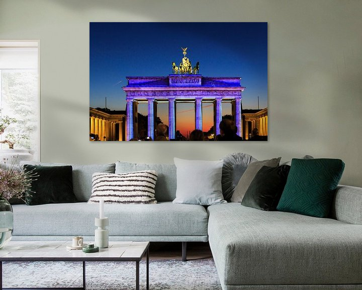 Impression: Berlin : la Porte de Brandebourg en illumination spéciale sur Frank Herrmann