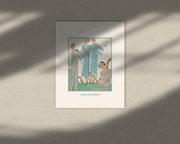 Tout est bon | Historischer Art Deco Mode Druck | Frühling in der Luft | Vintage und Retro Design von NOONY