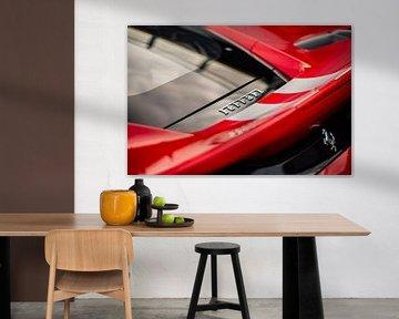 Ferrari 488 Pista op het ciruit van Assen van Martijn Bravenboer