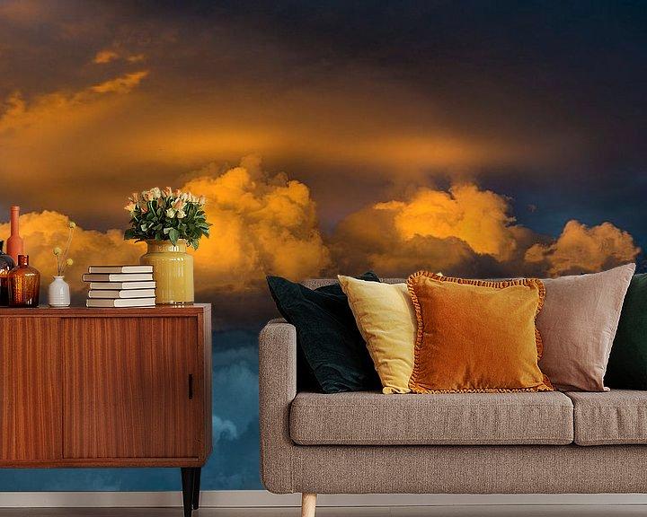 Sfeerimpressie behang: 0905 Thunderstorm van Adrien Hendrickx