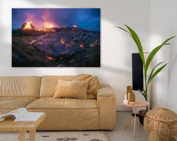 Éruption volcanique en Islande Geldingadalur sur Jean Claude Castor