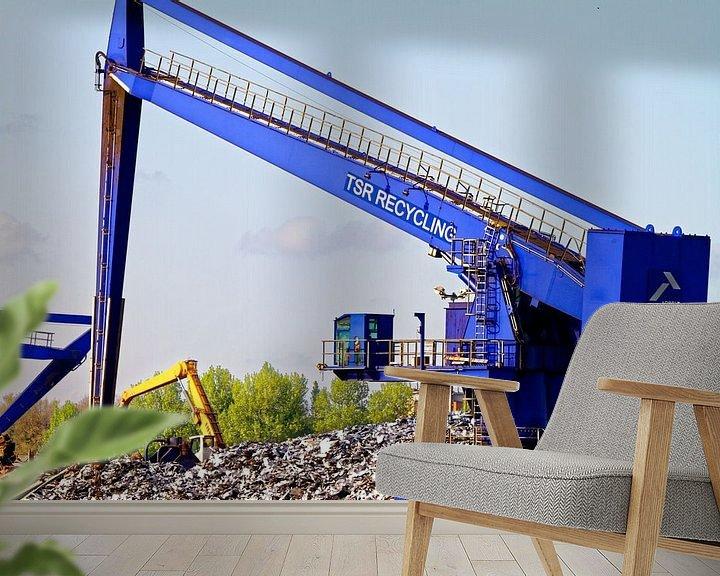Sfeerimpressie behang: Kranen op het sloopeiland in de haven van Duisburg (7-25382) van Franz Walter