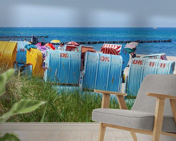 Beispiel fototapete: Strandkörbe,  Kühlungsborn, Mecklenburg-Vorpommern, Deutschland, Europa von Torsten Krüger