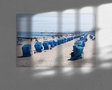 Strand mit Strandkörben, Kühlungsborn, Mecklenburg-Vorpommern, Deutschland, Europa von Torsten Krüger