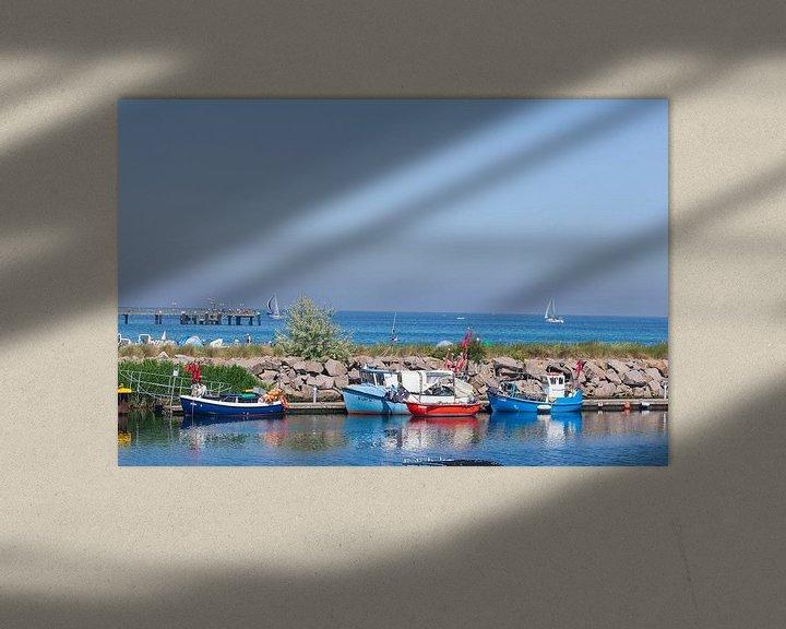 Impression: Vieux bateaux de pêche dans le port, Kühlungsborn, Mecklenburg-Vorpommern, Allemagne, Europe sur Torsten Krüger