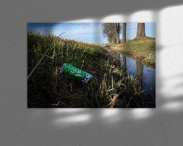 Beuningen 21-02-2021. Dosen in einem Graben und am Straßenrand. FOTO: GER LOEFFEN von Ger Loeffen