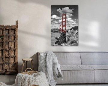 SAN FRANCISCO Golden Gate Bridge | colorkey von Melanie Viola