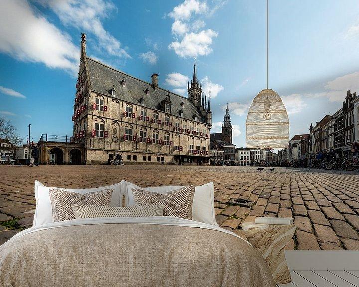 Sfeerimpressie behang: Oude Stadhuis Gouda van Brian Morgan