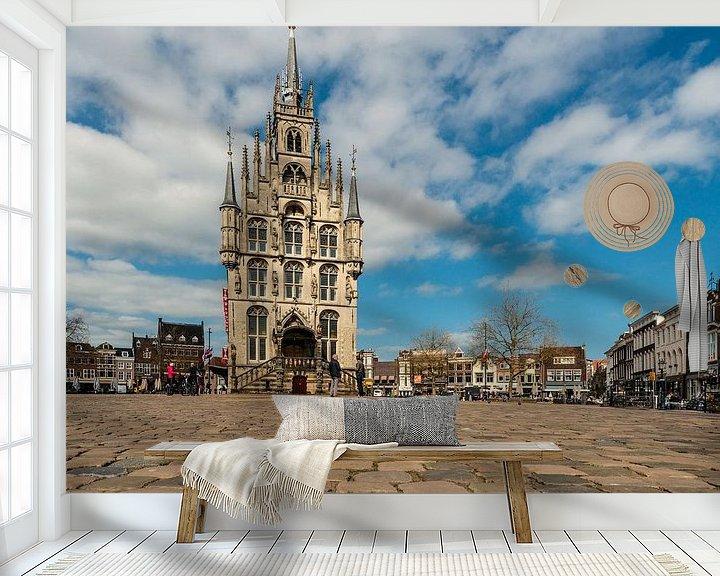 Sfeerimpressie behang: Raadhuis Gouda van Brian Morgan
