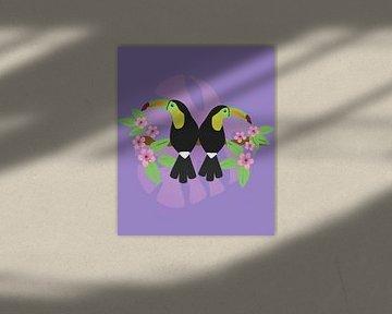 Zwei Tukane von Bianca Wisseloo