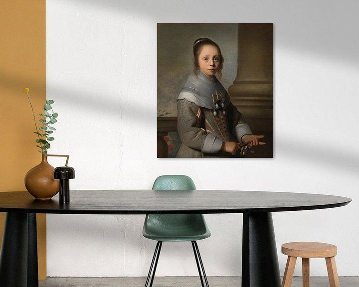 Beispiel: Porträt eines Mädchens, Isaack Luttichuys