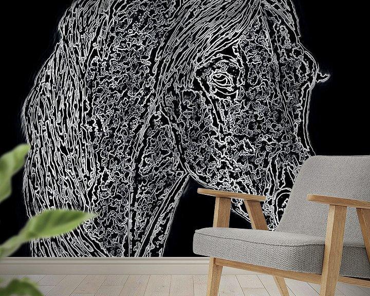 Sfeerimpressie behang: Paardenhoofd van Jose Lok