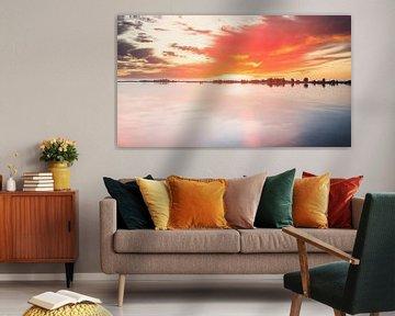 Coucher de soleil à Uitgeestermeer sur Digital Art Nederland