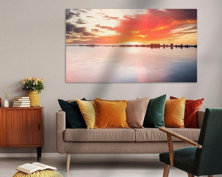 Beispiel: Uitgeestermeer Sonnenuntergang von Digital Art Nederland