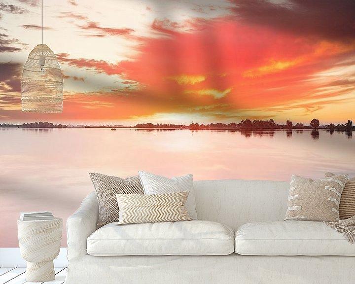 Beispiel fototapete: Uitgeestermeer Sonnenuntergang von Digital Art Nederland