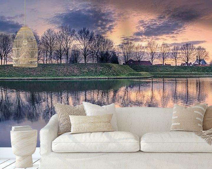 Sfeerimpressie behang: Panorama Nieuwpoort van Sander Poppe