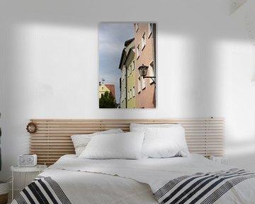 Bunte Häuser in Regensburg von Folkert Jan Wijnstra