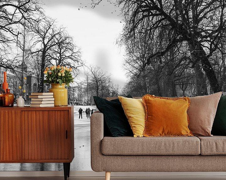 Beispiel fototapete: Winter in Utrecht 2021 von laura van klooster
