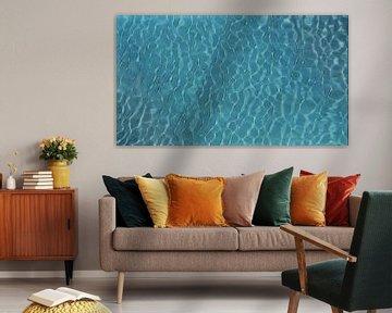 Abstract - Figuratief - Blauw Zwembad Water met Schittering van de Zon - Schilderij