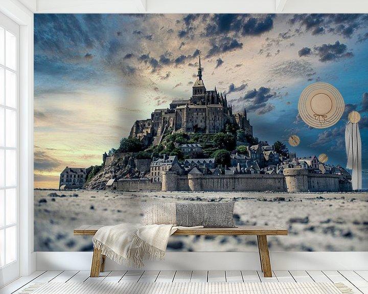 Sfeerimpressie behang: Mont Saint Michel van Jim De Sitter