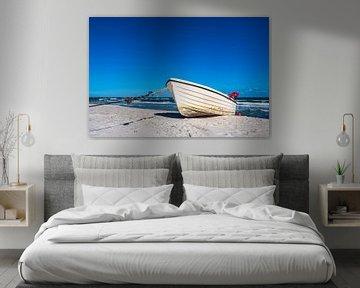 Fischerboot an der Ostseeküste bei Zingst auf dem Fischland-Darß von Rico Ködder