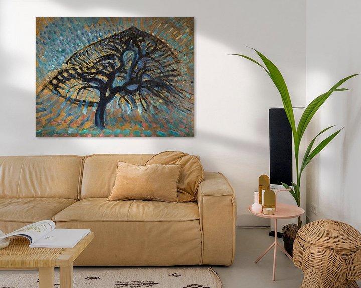 Beispiel: Apfelbaum, Pointillistische Version, Piet Mondrian