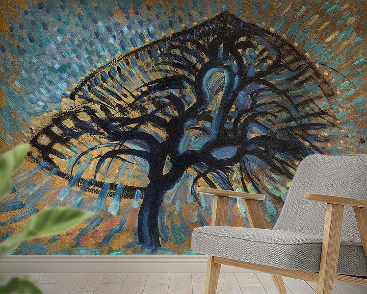Beispiel fototapete: Apfelbaum, Pointillistische Version, Piet Mondrian