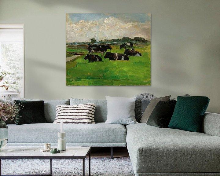 Beispiel: Landschaft mit Gruppe von fünf Kühen, Piet Mondrian