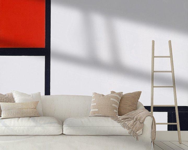 Beispiel fototapete: Komposition Nr. I, mit Rot und Schwarz, Piet Mondrian