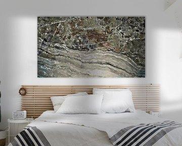 Een Kustlijn in Marmer - Abstract - Figuratief - Textuur - Schilderij