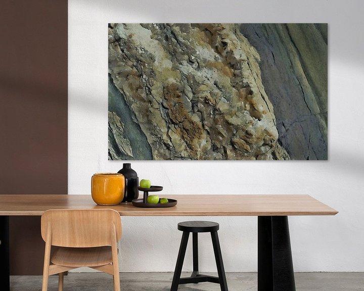 Sfeerimpressie: Het Beest in Zout - Abstract - Figuratief - Haliet - Zoutafzetting - Schilderij van Schildersatelier van der Ven