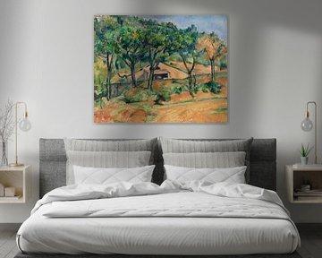Haus in der Provence, Paul Cézanne (ca.1890) von Atelier Liesjes