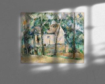 Haus und Bäume, Paul Cézanne (ca. 1888-1890) von Atelier Liesjes