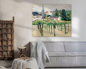 Dorfplatz, Paul Cézanne (ca.1881) von Atelier Liesjes