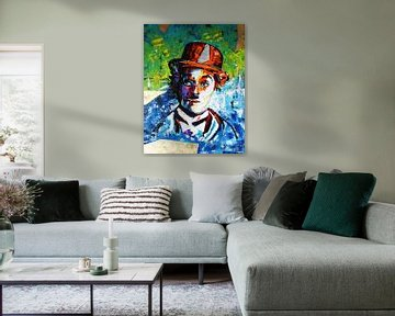 """Charlie Chaplin """"Gold"""" von Kathleen Artist Fine Art"""