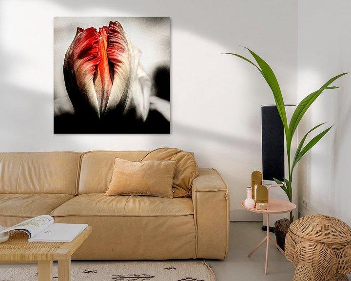 Sfeerimpressie: Tulp met een extra dimensie. van Dick Jeukens