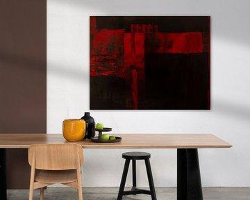 'Rot auf Schwarz', Jan Fritz von Jan Fritz