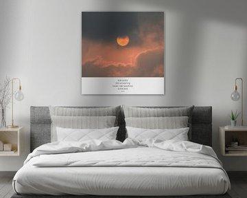 Zon in India   Zonsondergang   Foto met tekst van Wendy Boon