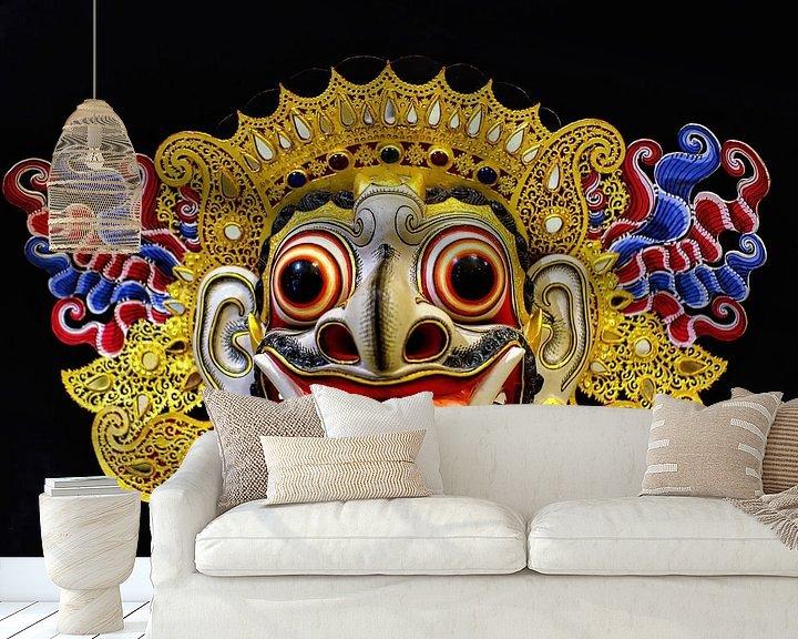 Sfeerimpressie behang: Barong Masker van Eduard Lamping