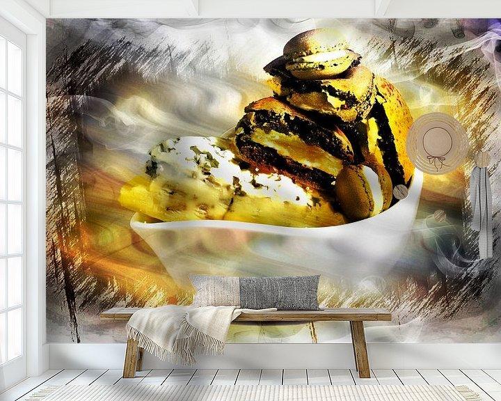 Sfeerimpressie behang: Macarons van Frank Dotulong