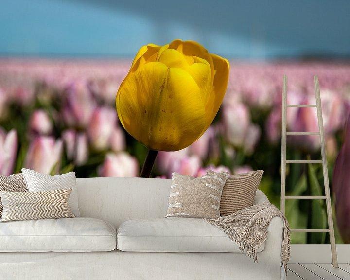 Sfeerimpressie behang: Tulpen van Koos de Vries