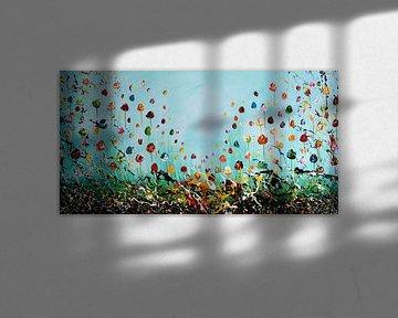 Flowers Blue van Gena Theheartofart