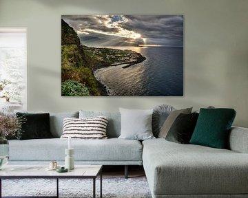 Zonsondergang bij de oceaan, Ponta Delgada, Madeira van Sebastian Rollé - travel, nature & landscape photography