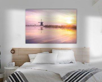 Broekmolen Sonnenaufgang von Paul Poot